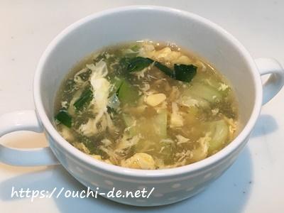 チンゲン菜と卵のふわとろ中華スープ
