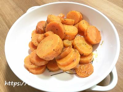 にんじんのホットサラダ(カレー味)