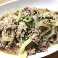 牛肉とセロリのオイスタ&マヨ炒め