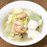 エビと豆腐の白菜たっぷり中華煮